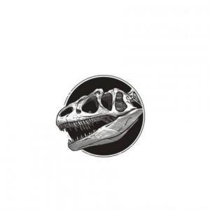 黑白恐龙头骨恐龙纹身手稿图片