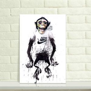 水墨个性猩猩纹身手稿图片
