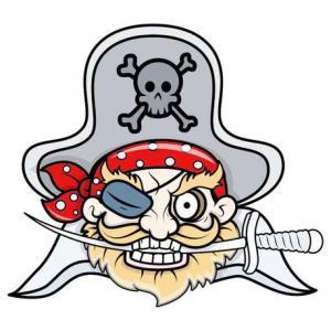 卡通海盗纹身手稿图片