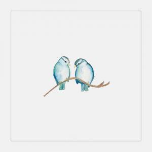 小清新蓝色小麻雀纹身手稿图片