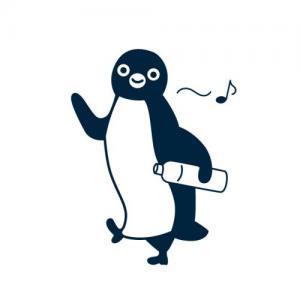 可爱企鹅漫步纹身手稿图片