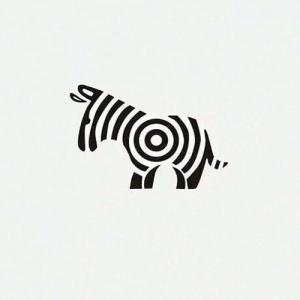 文艺斑马纹身手稿图片