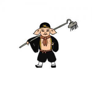 卡通猪八戒纹身手稿图片
