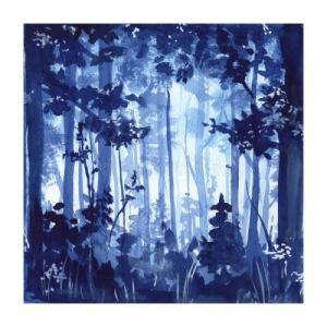 水彩唯美森林纹身手稿图片