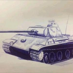 素描坦克纹身手稿图片