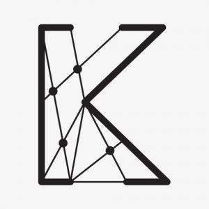 黑色星空线条状k字母纹身手稿图片