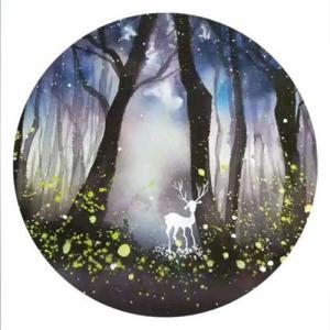 水彩森林鹿纹身手稿图片