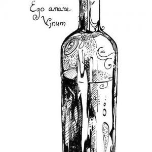 黑灰瓶子纹身手稿图片