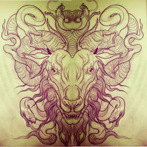 山羊纹身手稿图片