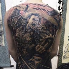 杀神白起经典满背纹身图案