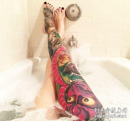 花腿般若纹身,女生花腿个性纹身