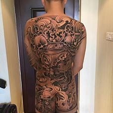 全身霸气的大黑天纹身图案