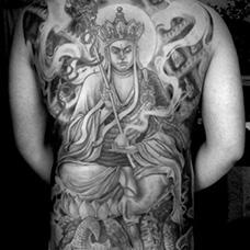 全身地藏王菩萨纹身图片
