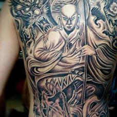 这就是信仰,满背地藏王纹身图片