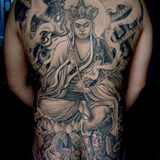全身霸气的地藏王纹身图案