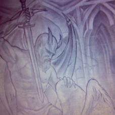 迈克尔胸部恶魔杀死天使越狱纹身