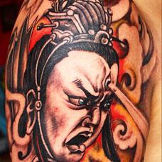 大臂二郎神纹身图案