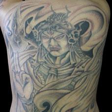 满背二郎神纹身