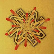 抽象的风车纹身图案