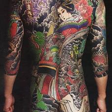 全身浮世绘美女纹身图片