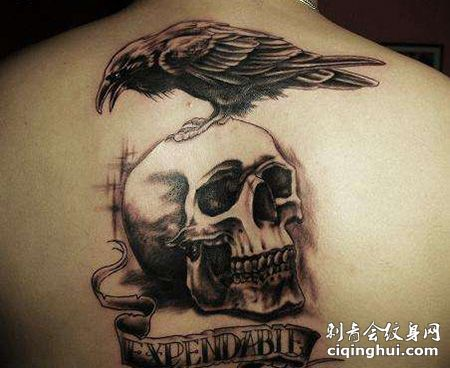 背部帅气的敢死队纹身图片
