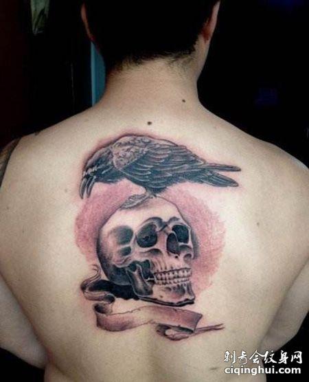 背部敢死队纹身图案
