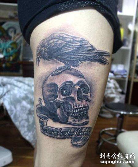 大腿敢死队纹身图案