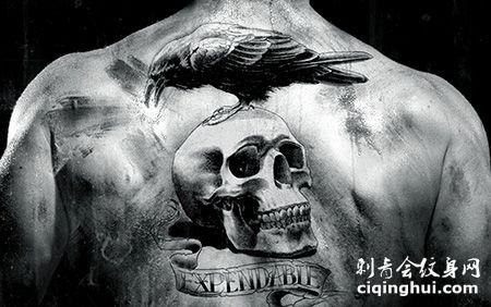 背部帅气的敢死队纹身图案