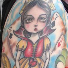 花臂卡通公主纹身图案