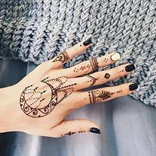 手背海娜纹身图案