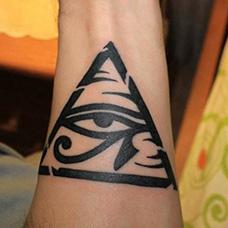 手臂荷鲁斯之眼纹身图案