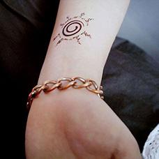 手腕火影忍者标志纹身图案