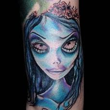 手腕僵尸新娘纹身图案