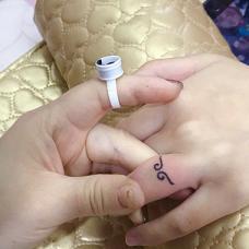 手指上紧箍咒指环小纹身