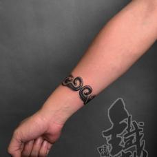 小臂紧箍咒手环个性纹身
