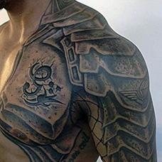 半甲霸气的盔甲纹身图案