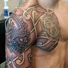 半甲部落盔甲纹身图片
