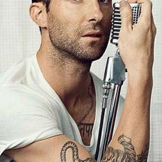 歌手亚当.莱文老虎纹身图案