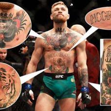 拳击选手康纳腹部老虎头纹身