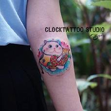 小臂鲤鱼旗纹身图片