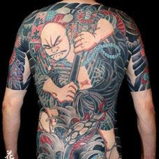 全身鲁智深纹身图案