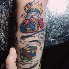 手臂可爱的鸣人纹身图案