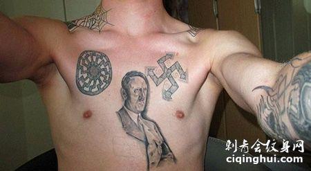 胸前德国纳粹纹身图片