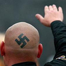 头部纳粹符号纹身图案