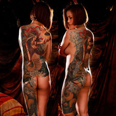 全身女娲纹身图案