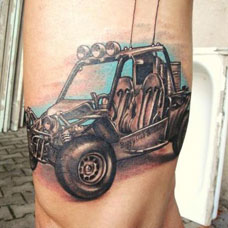 大臂汽车纹身图案
