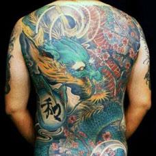 全身青龙纹身图案