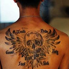 背部个性七宗罪纹身图案