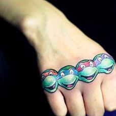 手部忍者神龟纹身图案