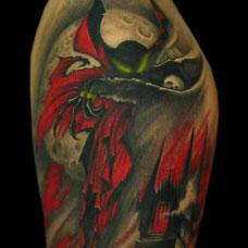 手臂个性的恶魔纹身图案